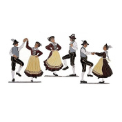 Dance group, 3 couples, made of pewter - Wilhelm Schweizer -