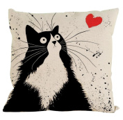 Pillow Case,Singleluci Cute Cat Cotton Sofa Waist Throw Cushion Cover