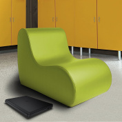 Jaxx Large Classroom Chair with Vinyl Cover, Green