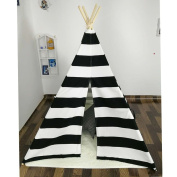Teepee Kids Play Tent kids play house in White and black stripe