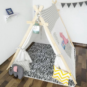 Sunny@square design 100% Cotton Canvas Indian Teepee Kids Play Tent for Children Playhouse