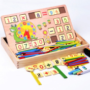 Wooden Multifunctional Digital Box Montessori Educational Kids Toys Learning Education Math Toys Mathematics