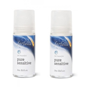 FARFALLA Pure Sensitive Roll-On Deodorant Pack of 2x 50 ml (Organic, Vegan Natural Cosmetic - Deodorant PSX2