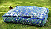 """Star Mandala Indian Square Floor Pillow Cover Oversized Ottoman Pouffe Throw Sofa Square Ottoman Pouffe Large Meditation Daybed By """"Handicraftspalace"""""""