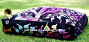 """Elephant Tree Of Life Indian Floor Pillow Cover Ottoman Pouffe Outdoor Dog / Pets Bed 90cm , Bohemian Style Traditional Cotton Handmade By """"Handicraftspalace"""""""