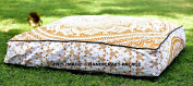 """Indian Meditation Floor Pillow Cover Ombre Mandala Ottoman Cushion Dog Bed Pets Bed Outdoor Bay Bed Large Seat Cushion Cover by """"Handicraftspalace"""""""