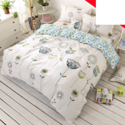 Pure cotton quilt and sanded printing duvet cover/grind printed quilt /Simple pastoral quilt cover-J 180220cm