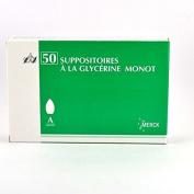MERCK - Merck Suppositoires à la Glycérine Monot x 50 - 8AE71646C51A9