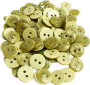 RaanPahMuang Plastic Shirt Buttons 11 millimetre diameter x 100pcs Bulk Lot, Sap Green