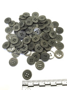 """3/4"""" (18 mm) Dark Grey Resin Buttons - Pack of 100"""