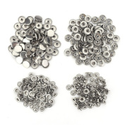 """100 Sets No Sewing Snap Fasteners for Leather Jeans Jacket Canvas Buttons Kit 15mm 5/8"""""""