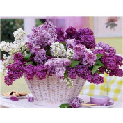 Alonea 5D Lavender DIY Diamond Embroidery Painting Flower Cross Stitch Home Decor Craft