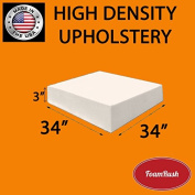 FoamRush Upholstery Foam High Density Firm Foam Soft Support (Chair Cushion Square Foam for Dinning Chairs, Wheelchair Seat Cushion Replacement)