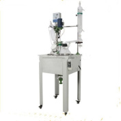 Kohstar 30L stainless steel supporting frame glass chemical reactor,Single layer glass reactor