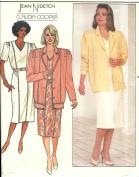 Butterick vintage 1980s sewing pattern 3970 designer jacket and dress - Size 8-12