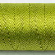 WonderFil Specialty Threads Spagetti, Chartreuse, 3-ply 100% Long Staple Double-Gassed Egyptian Cotton, 12wt