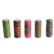 Kangnice 5PCS Sewing Machine Threads Overlocking String Polyester Colourful All Purpose