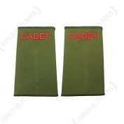British Army Olive Green Cadet Rank Slides - No Rank