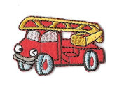 DKAORU Fire truck- Emergency - Fire Department - Truck - Children - Iron On Patch Happy crafting