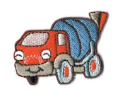 DKAORU Truck - Cement Truck - Embroidered Iron On Applique Patch Happy crafting