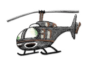 DKAORU Helicopter - Transportation - Flying - Embroidered Iron Patch Happy crafting