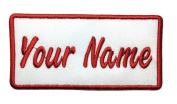 Custom embroidered name patch, Uniform Name Tag, Personalised Label / Iron on/ Sew on/ 2x4