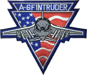 A-6 fintruder flag american Pilot Military size 9 x 10.5cm. Band Logo Jacket Vest shirt hat blanket backpack T shirt Patches Embroidered Appliques Symbol Badge Cloth Sign Costume Gift 7.5 x 9cm