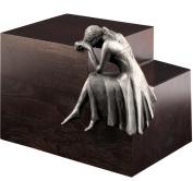 """Urns UK """"Beaminster Weeping Angel"""" Cremation Urn, Steel"""