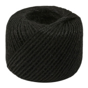 VANKER 0.6m x 50m Hemp Rope Roll - For Industrial, Packaging, Arts & Crafts, Hobby, Gifts, Decoration, Bundling, Gardening, And Home Use-Black