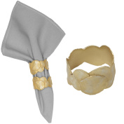 """La Mer"" Napkin Rings (Set of 4) ~ Table Art by Michael Michaud for Silver Seasons"