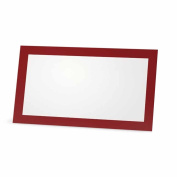 Burgundy Place Cards - Flat or Tent Style - 10 or 50 Pack - Placement Table Name Dinner Seat - Stationery Party Supplies - Any Occasion Event or Holiday