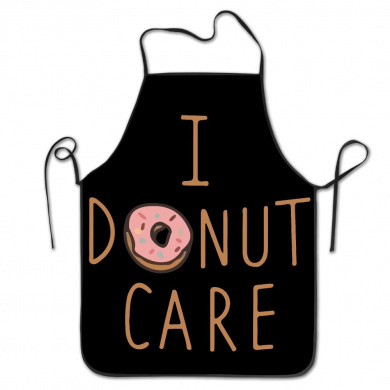 I Donut Care Funny Chef Kitchen Cooking And Baking Bib Apron