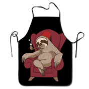 Sophisticated Sloth Funny Chef Kitchen Cooking And Baking Bib Apron