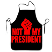 Not My President Fist Chef Kitchen Cooking And Baking Bib Apron