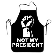 Not My President Hand Chef Kitchen Cooking And Baking Bib Apron