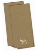 Caroline's Treasures BB3462TNTWE English Bulldog Tan Embroidered Kitchen Towel Set of 2 , 48cm X 60cm , multicolor