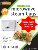 200 x Medium  Wuickasteam Microwave Bags