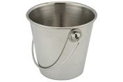 Stainless Steel Chip Bucket Food Serving Presentation Condiment Holder 9.5 x 6cm