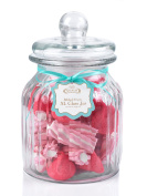 Giles & Posner QCJ186675 Extra Large Ribbed Glass Candy Jar