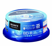 Sony Blu-ray Disc | BD-R 25GB 4x - Ink-jet Printable 25 Pack Spindle | 25BNR1VGPP4