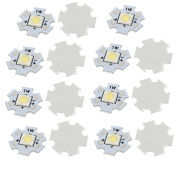sourcingmap® 15Pcs 20x20mm 1W 1 LED 6868 SMD Pure White LED Ceiling Light Board