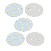 sourcingmap® 5Pcs 49x49mm 7W 7 LEDs 6868 High Power SMD Pure White LED Ceiling Light Board
