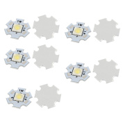 sourcingmap® 10Pcs 20x20mm 1W 1 LED 6868 SMD Pure White LED Ceiling Light Board