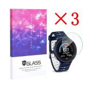 Elecguru 3X Garmin Garmin Forerunner 630 Screen Protector Crystal Clear 9H 2.5D Tempered Glass Screen Protector Foils,Anti-Fingerprint,Anti-Glare,bubble-free Protection Film