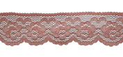 "Vintage 1 1/4"" Peach Scalloped Floral Flat Lace 3.2 cm DIY Crafts Hair Bows 5 Yd"