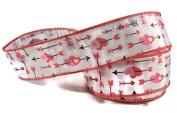 Hearts & Arrows Satin Valentine Ribbon - 3 Yards