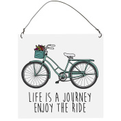 Life is a journey enjoy the ride, Funny Retro Vintage SMALL Wall Metal PLAQUE SIGN Retro10x10cm