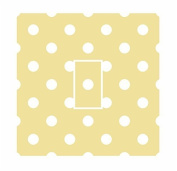 Sticar-it Ltd Creamy Yellow & White Small Polka Dot Pattern Light Switch Sticker vinyl cover skin decal For Any Room