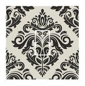 Sticar-it Ltd Black & Hessian Cream Oriental Style Damask Pattern Light Switch Sticker vinyl cover skin decal For Any Room