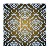 Sticar-it Ltd Fade To Black With French Blue coloured Damask Pattern Light Switch Sticker vinyl cover skin decal For Any Room